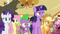 Ponyville ponies agreeing with Twilight S6E15.png