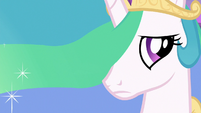 Princess Celestia worried about Twilight S7E1