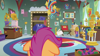 Rainbow Dash's room of trophies and medals S7E7