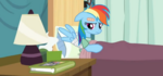 Rainbow looking at book S2E16