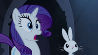 Rarity and Angel surprised S4E03