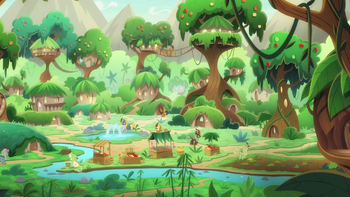S08E23 Widok na wioskę Kirin