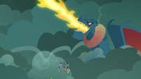 Torch bellowing fire breath S7E16