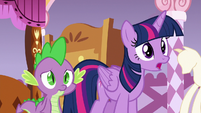 Twilight Sparkle --Spike and I were wondering-- S6E22