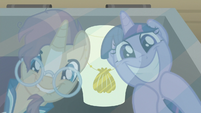 Twilight and Sunburst find an antique seashell S7E24