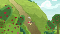 Apple Bloom running down a hill S9E10