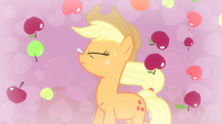 Applejack with apples falling S4E13