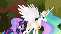 Celestia tells Twilight to defend Equestria S9E2