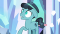 Crystal Hoof with glowing changeling eyes S6E16.png