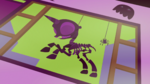 Decorative pony skeleton hanging in window S5E21