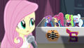 Fluttershy looking at angry Shadowbolts EG3.png