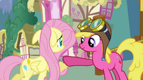 Fluttershy rents hot air balloon S03E13