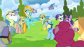 Lightning Dust pointing at Rainbow Dash S3E07.png
