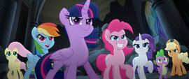 MLP The Movie Metrofilms - Mane Six and Spike ready for action