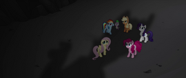Main five and Spike looking up at Capper MLPTM