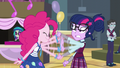 Pinkie shakes Twilight's face vigorously EG3.png