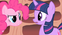 Pinkie tells Twilight she needs to get out more S1E16