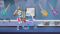 Rainbow Dash and Trixie fighting over guitar EG2.png