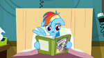 Rainbow Dash unimpressed by the book S2E16