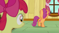 Scootaloo spinning around to stare at her cutie mark S6E4