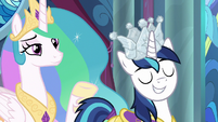 Shining Armor grinning with pride S9E4