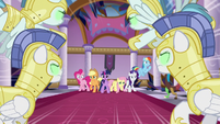 Sombrafied guards stampede at Mane Six S9E2