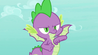 Spike pounding his chest S8E11