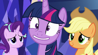 Twilight Sparkle's eye twitching again S8E2