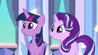 Twilight and Starlight happy for Thorax S6E16