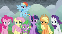 Twilight and friends confront the villains S9E25