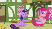 Twilight pushes Pinkie away S3E3