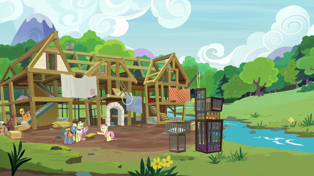 File:Wide view of animal hospital framework S7E5.png
