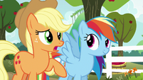 Applejack --we'll play against each other-- S6E18
