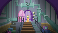 Applejack finds the spa's laundry room S6E10