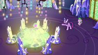 Cutie Map glowing with Spike's image S7E15