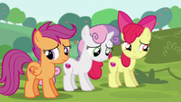 Cutie Mark Crusaders in halfhearted agreement S6E14