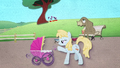 Earth mare pushing a foal stroller BFHHS2.png
