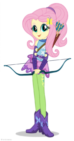 Friendship Games Fluttershy Sporty Style artwork