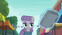 Maud Pie looking at stone spell book S6E3