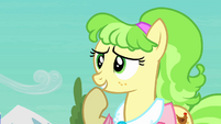 Ms. Peachbottom flattered smile S03E12