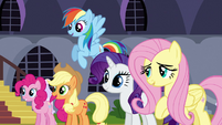 Other main ponies looking at each other S3E2
