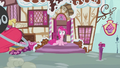 Pinkie Pie on front of entrance S2E06.png