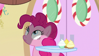 Pinkie Pie sees Yona falling toward her S8E12
