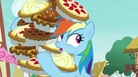Rainbow Dash starting to sweat S7E23