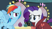 Rainbow apologizes to Rarity S5E15