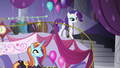 Rarity and Sassy at Canterlot Carousel S8 opening.png