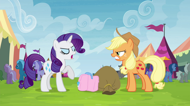 """File:Rarity trying not to be """"out-friended"""" S4E22.png"""