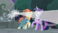 Star Swirl fires his magic at the center of Ponhenge S7E25.png