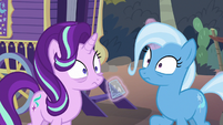 Starlight and Trixie hear Hoo'Far S8E19
