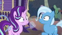 Starlight and Trixie hear Hoo'Far S8E19